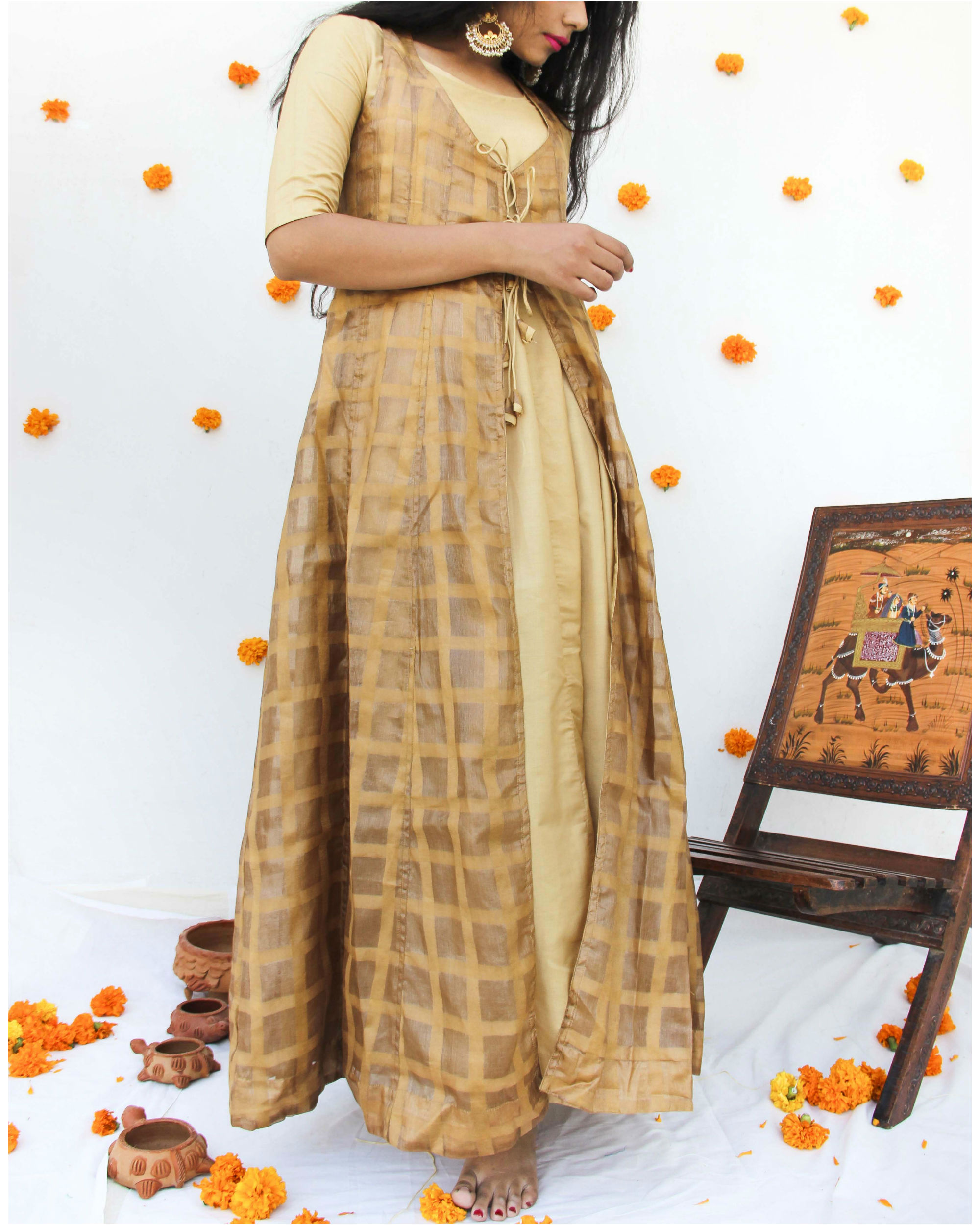Golden gown with jacket