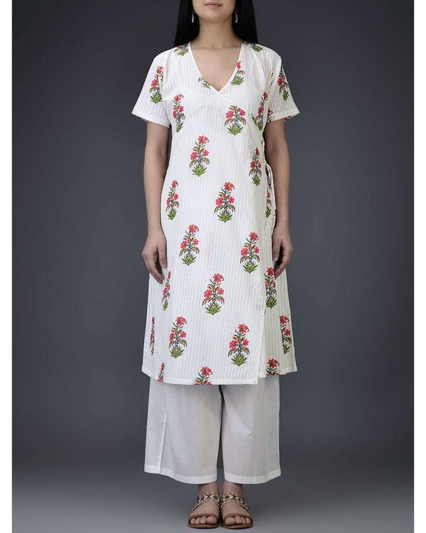 Fuschia floral tunic