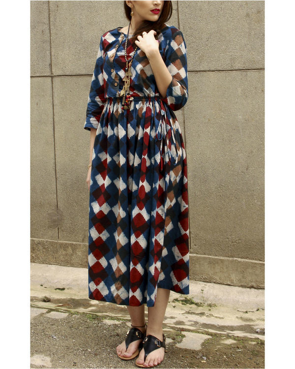 Indigo classic block dress