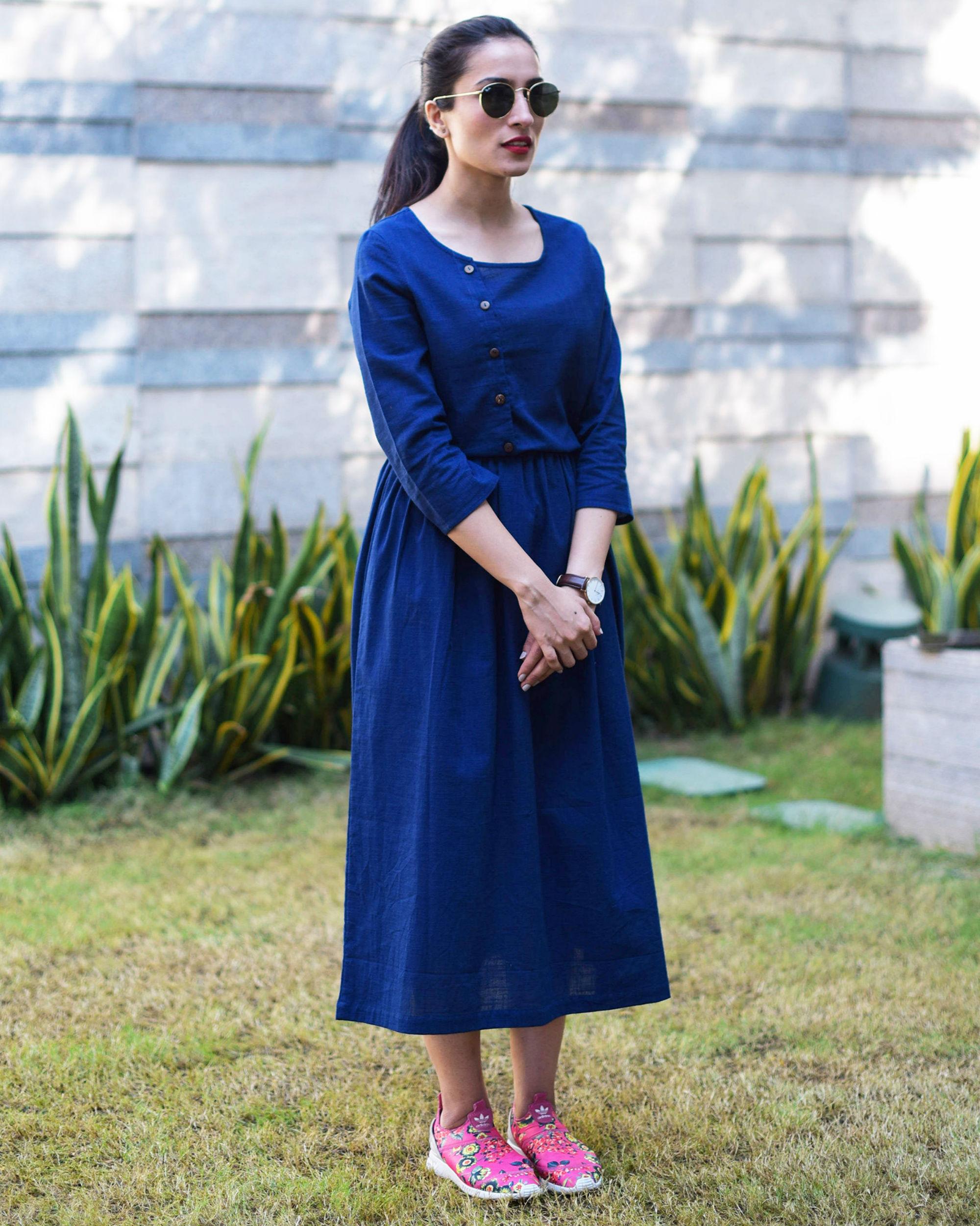 Indigo vintage dress