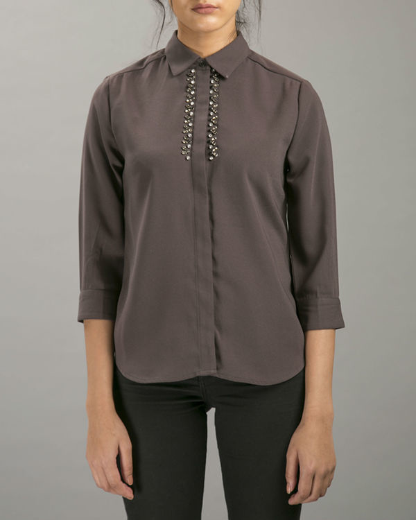 Clay embellished shirt