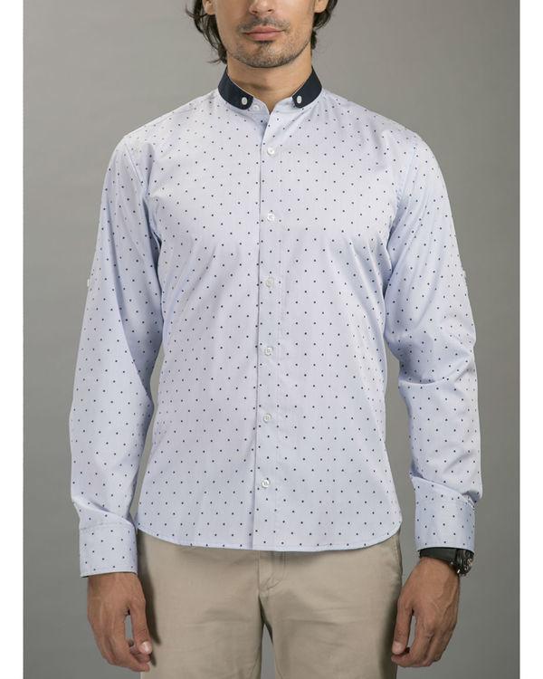 Blue polka shirt