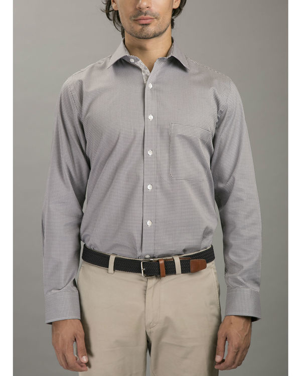Grey jacquard shirt