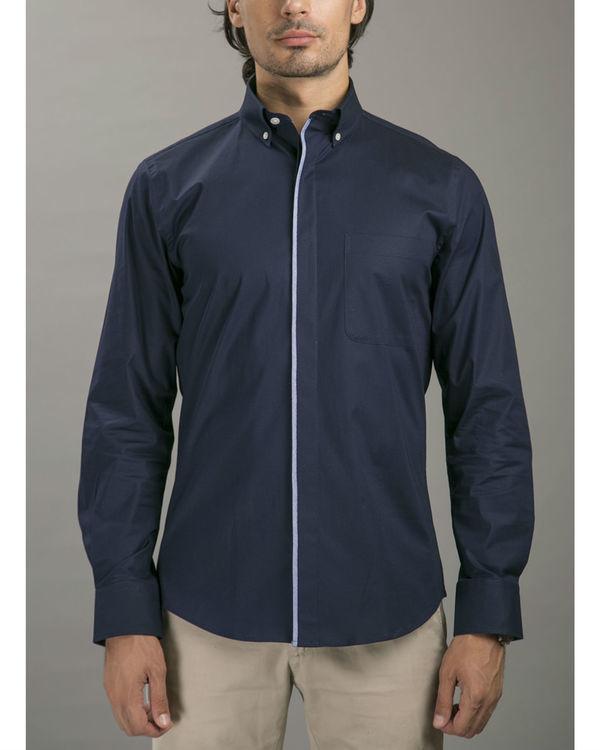 Navy formal shirt