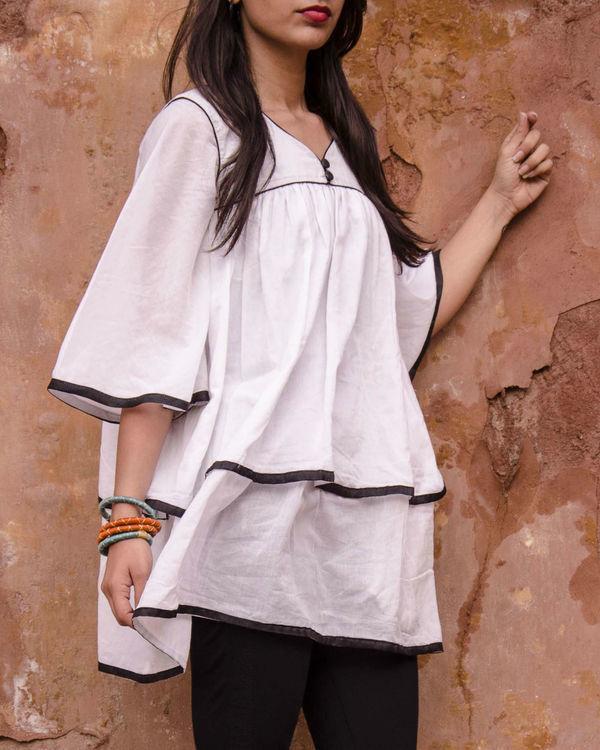 White layered kimono top