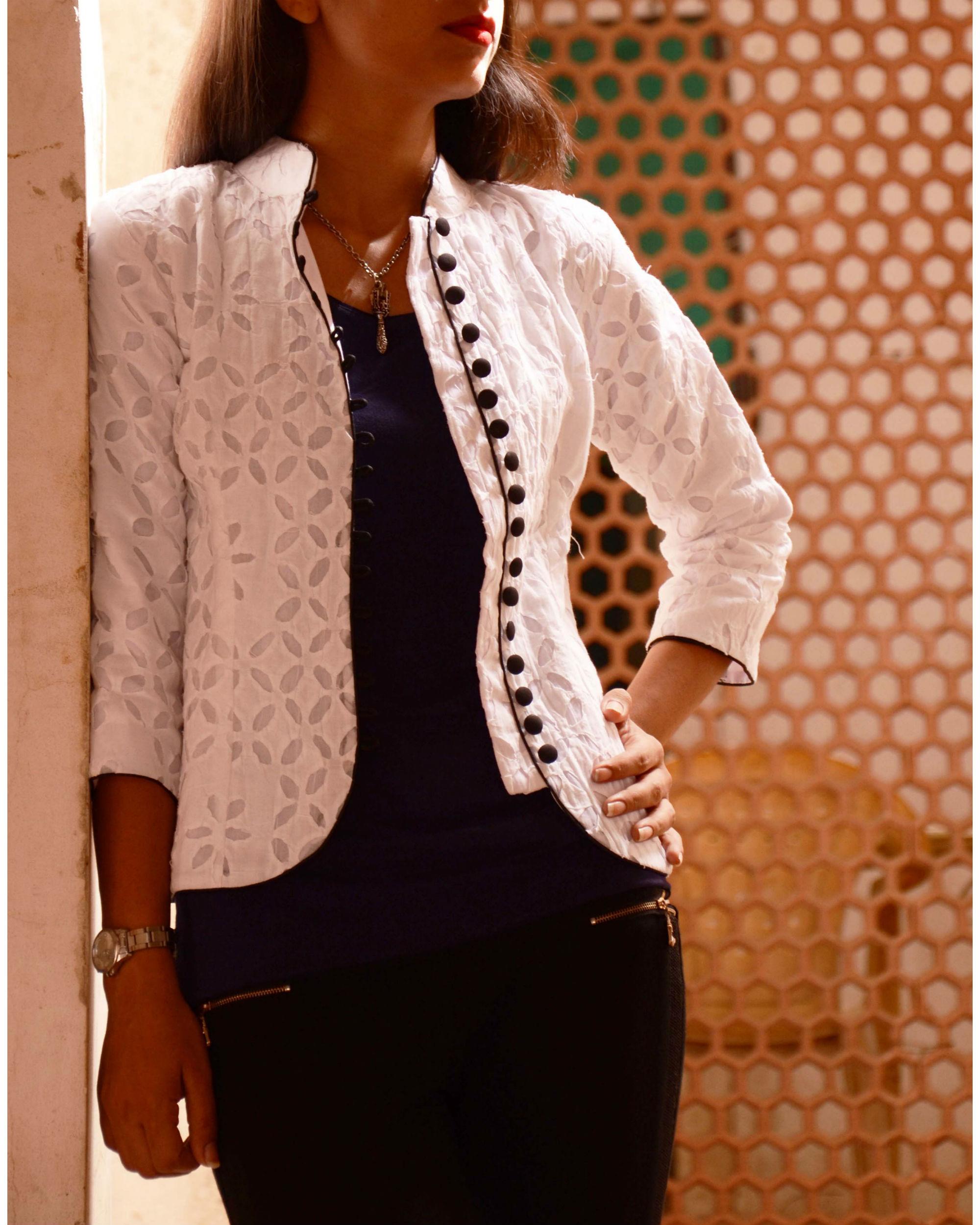 White applique jacket