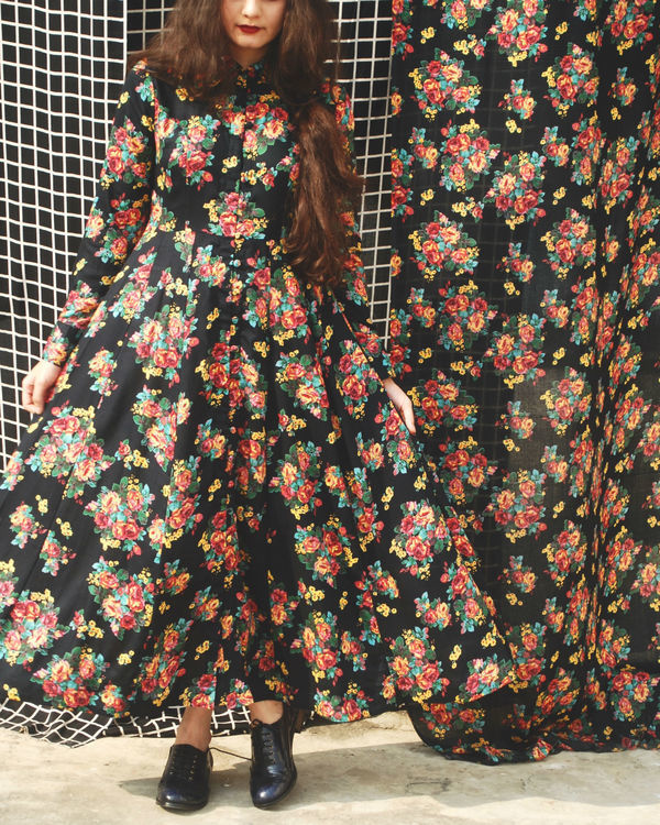 Black garden dress