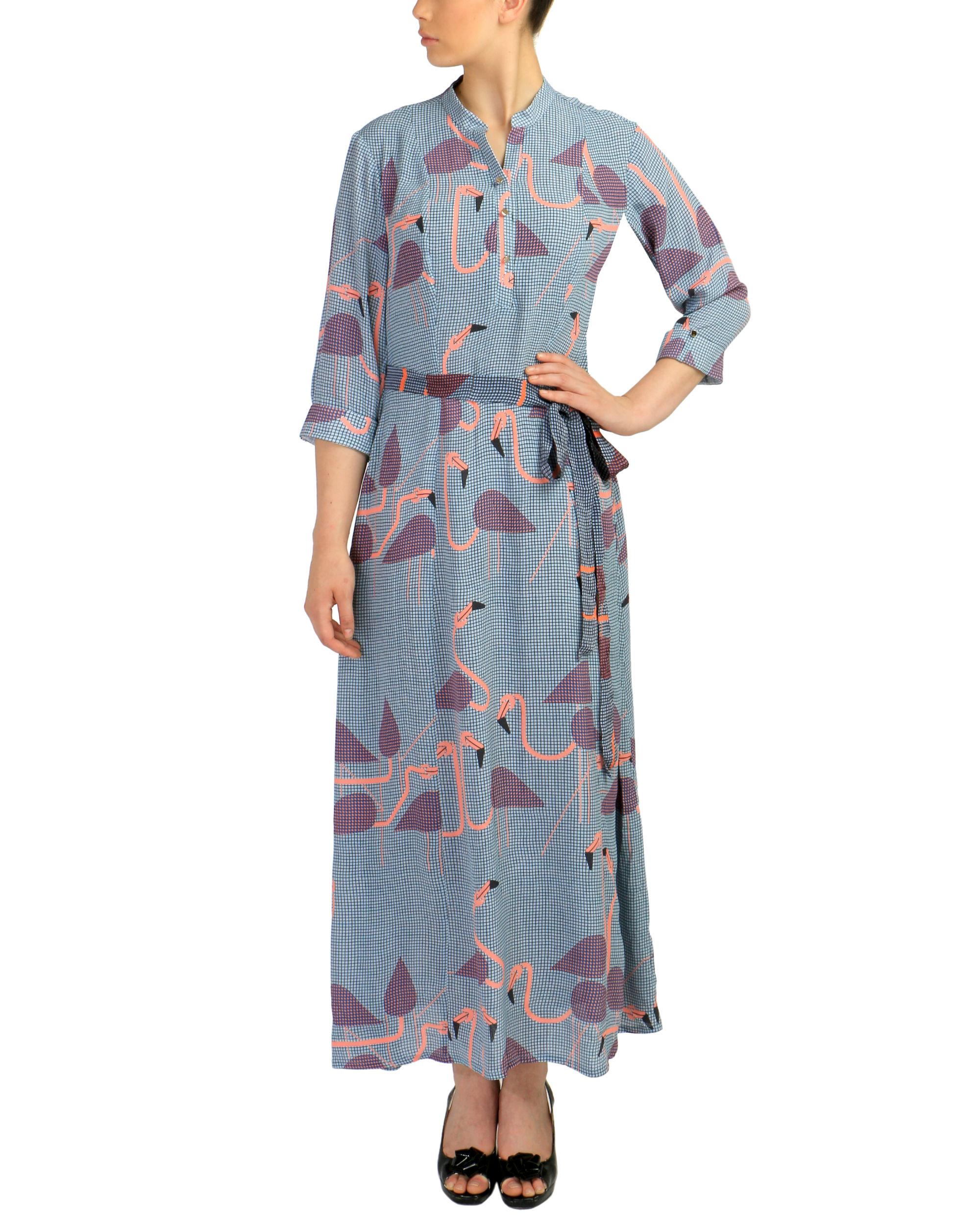 Blue flamingo dress