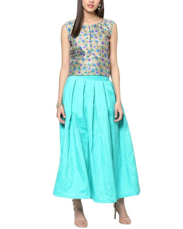 Ocean top and skirt set