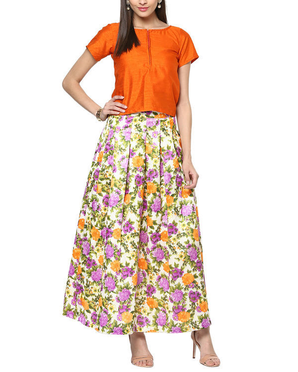 Sunflower top and skirt set