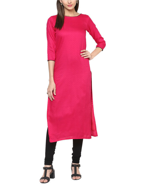 Fuchsia cotton tunic