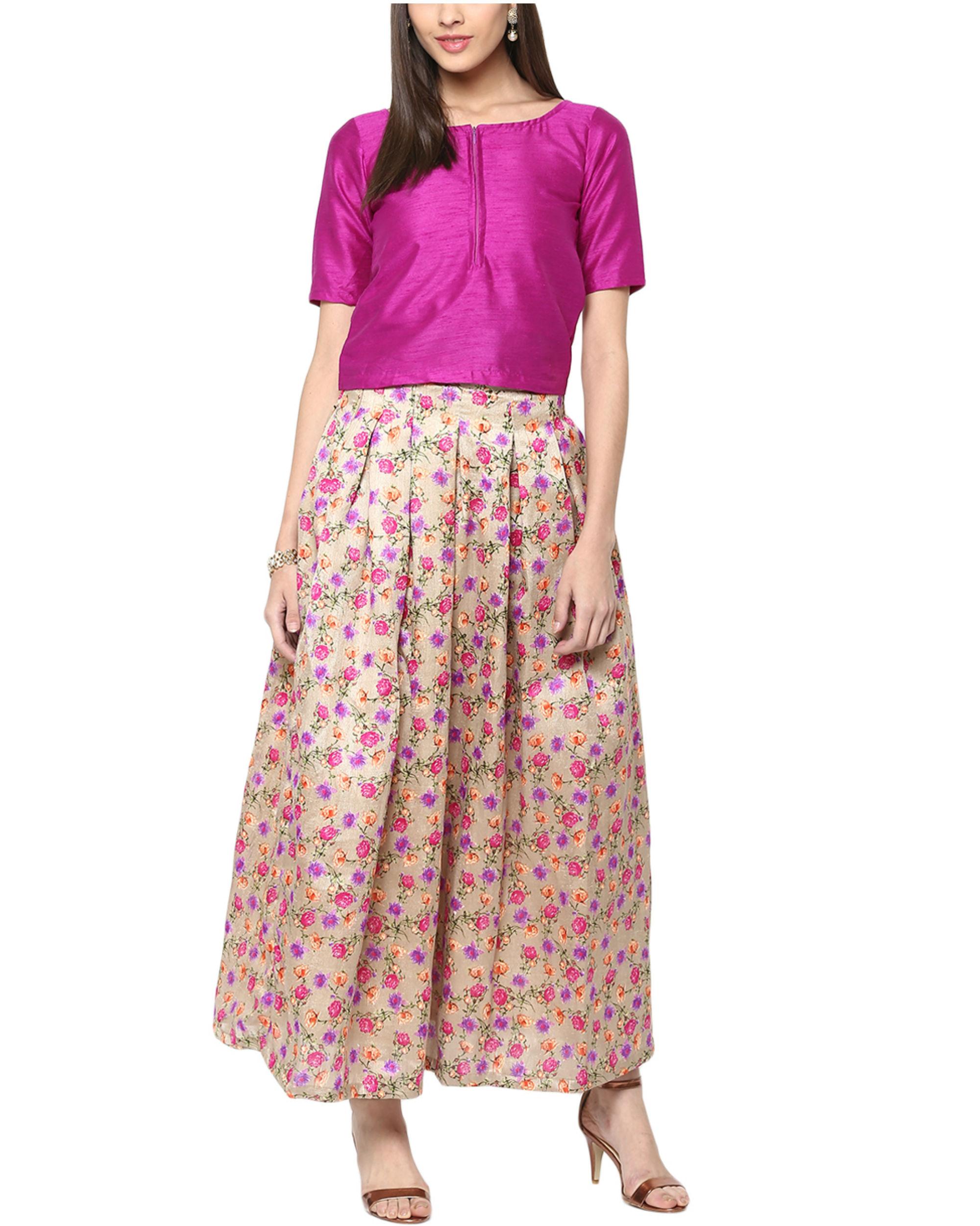 e8dc85a90d Lavender top and skirt set by Sugandh | The Secret Label