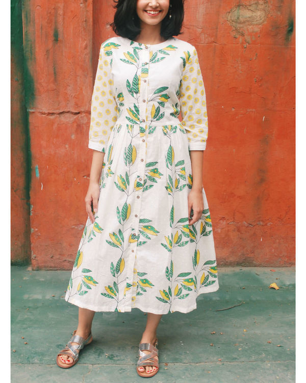 Leaf folla dress