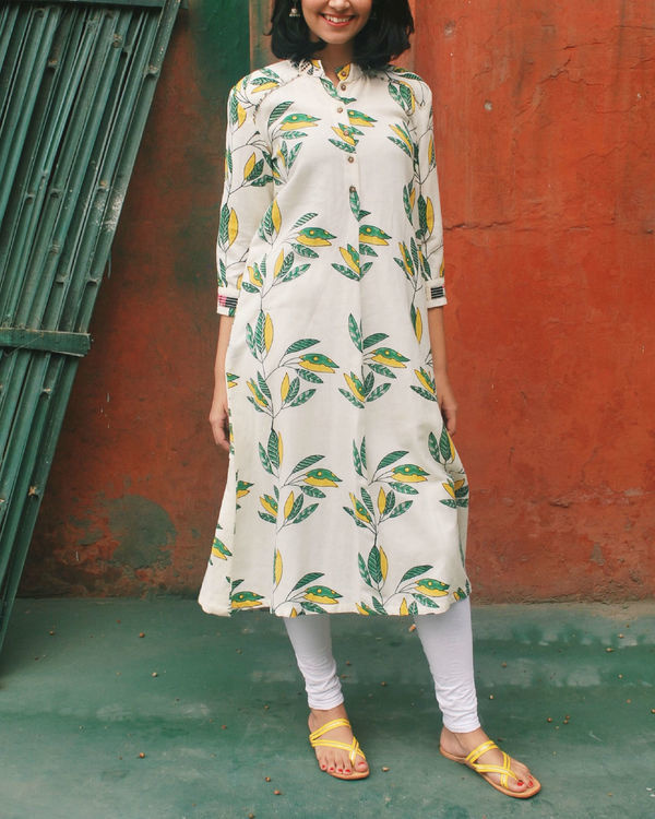 Leaf cotton tunic