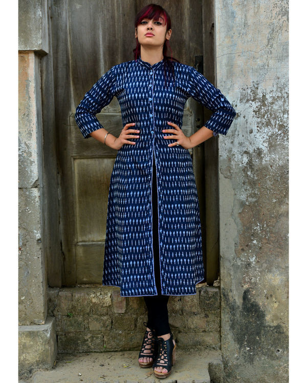 Navy ikat tunic