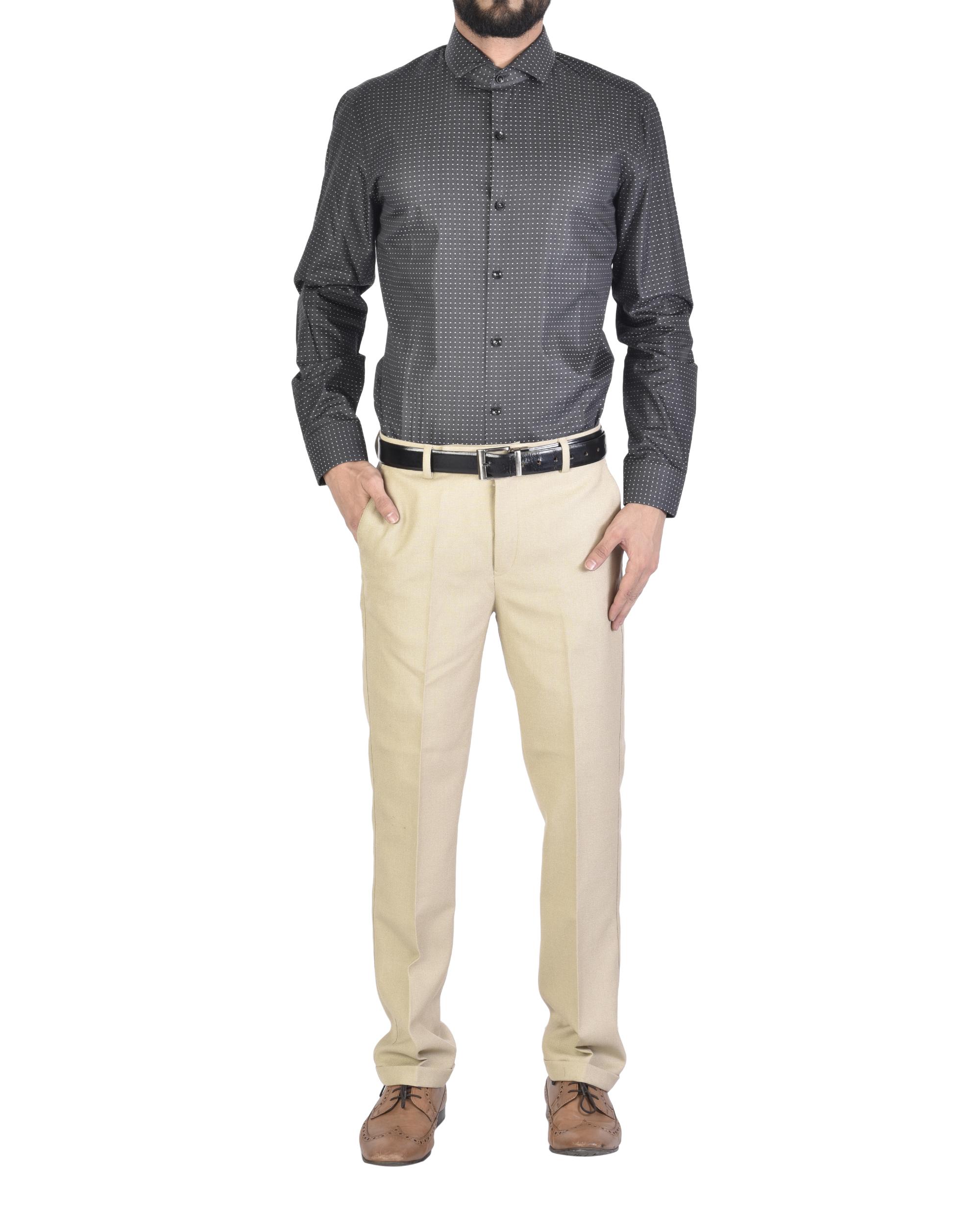 Charcoal black Shirt with motif