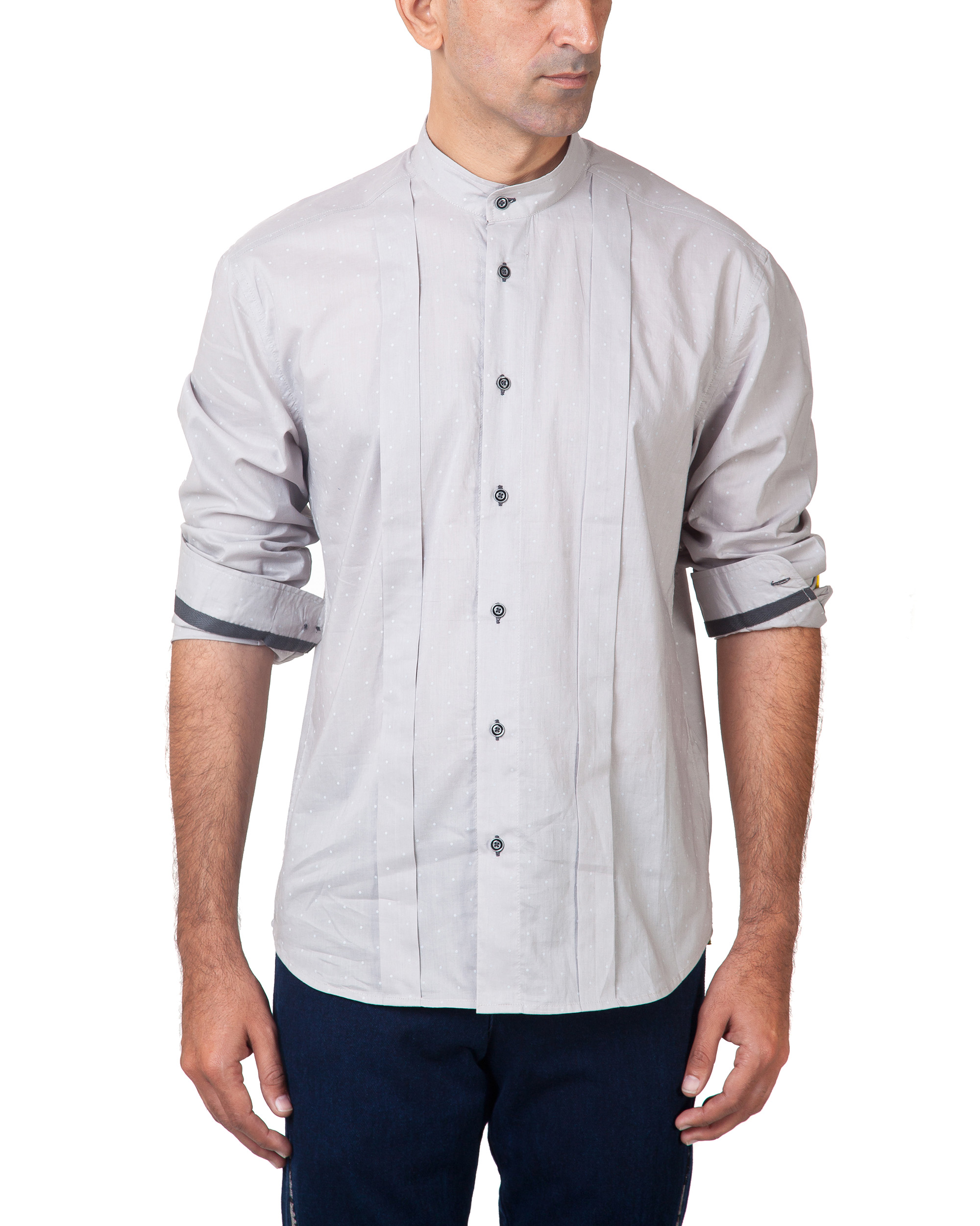 Grey polka shirt