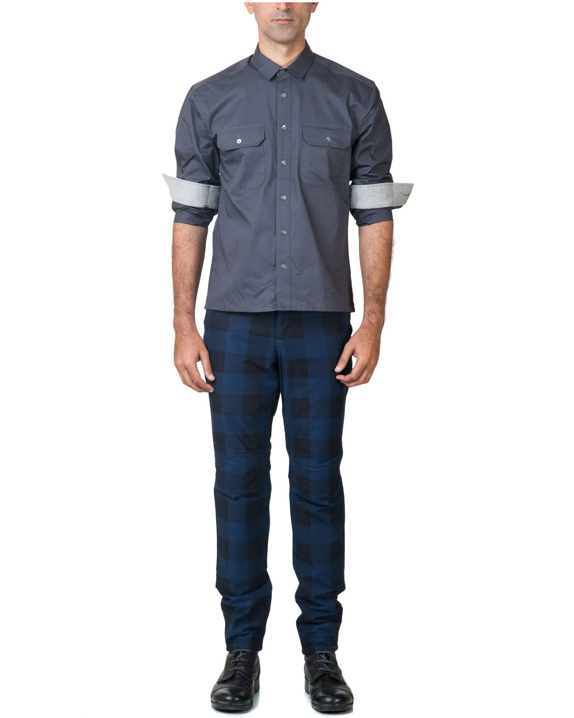 Blue utility trouser