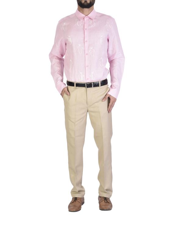 Pink shirt with motif