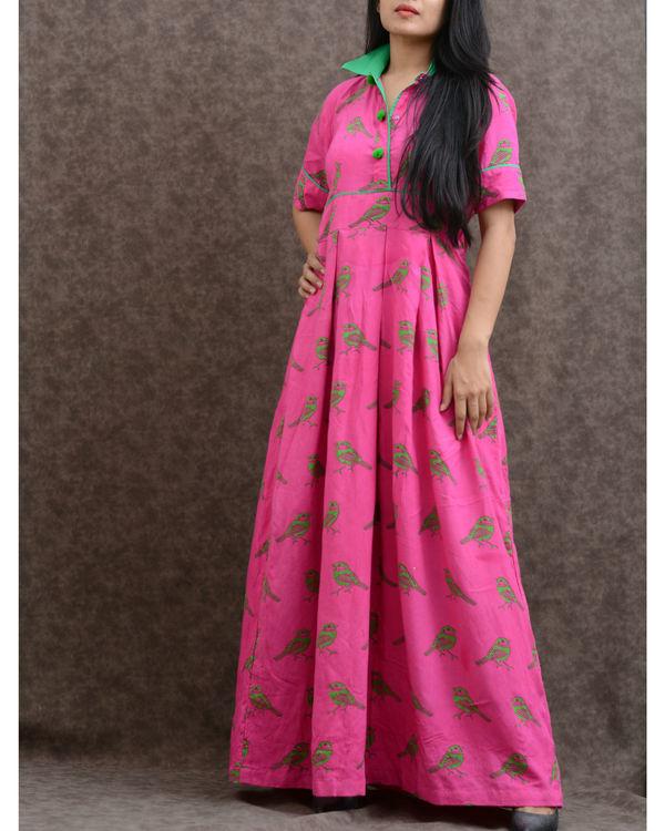 Pink rayon tunic