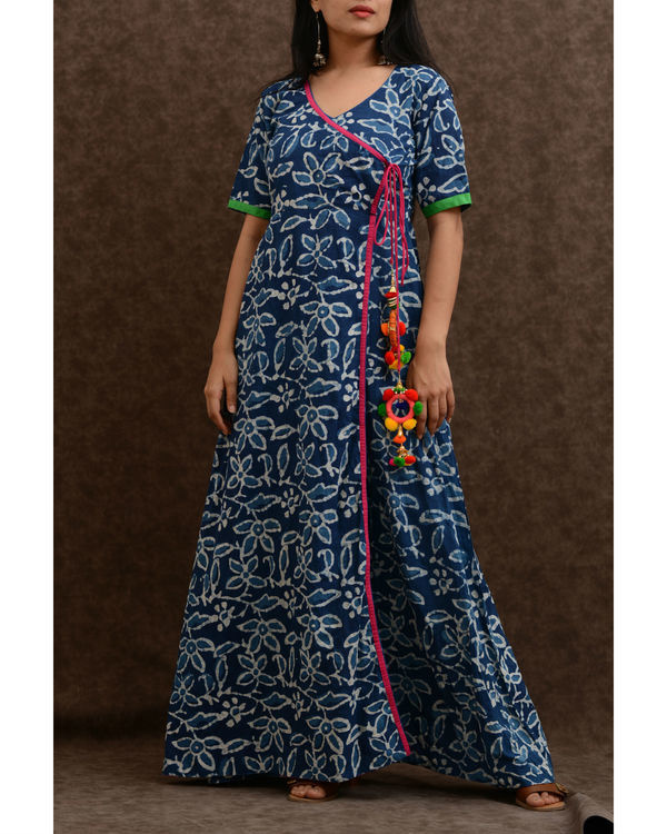 Indigo angrakha tunic