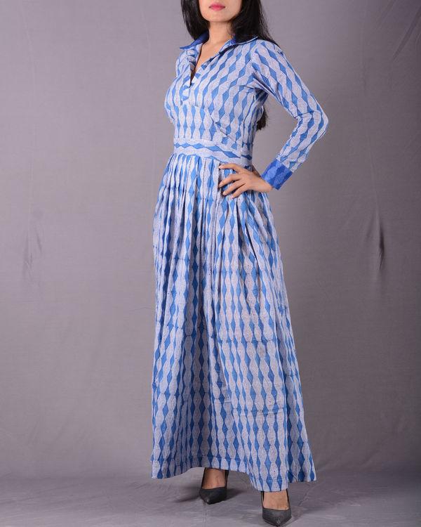 Blue autumn dress