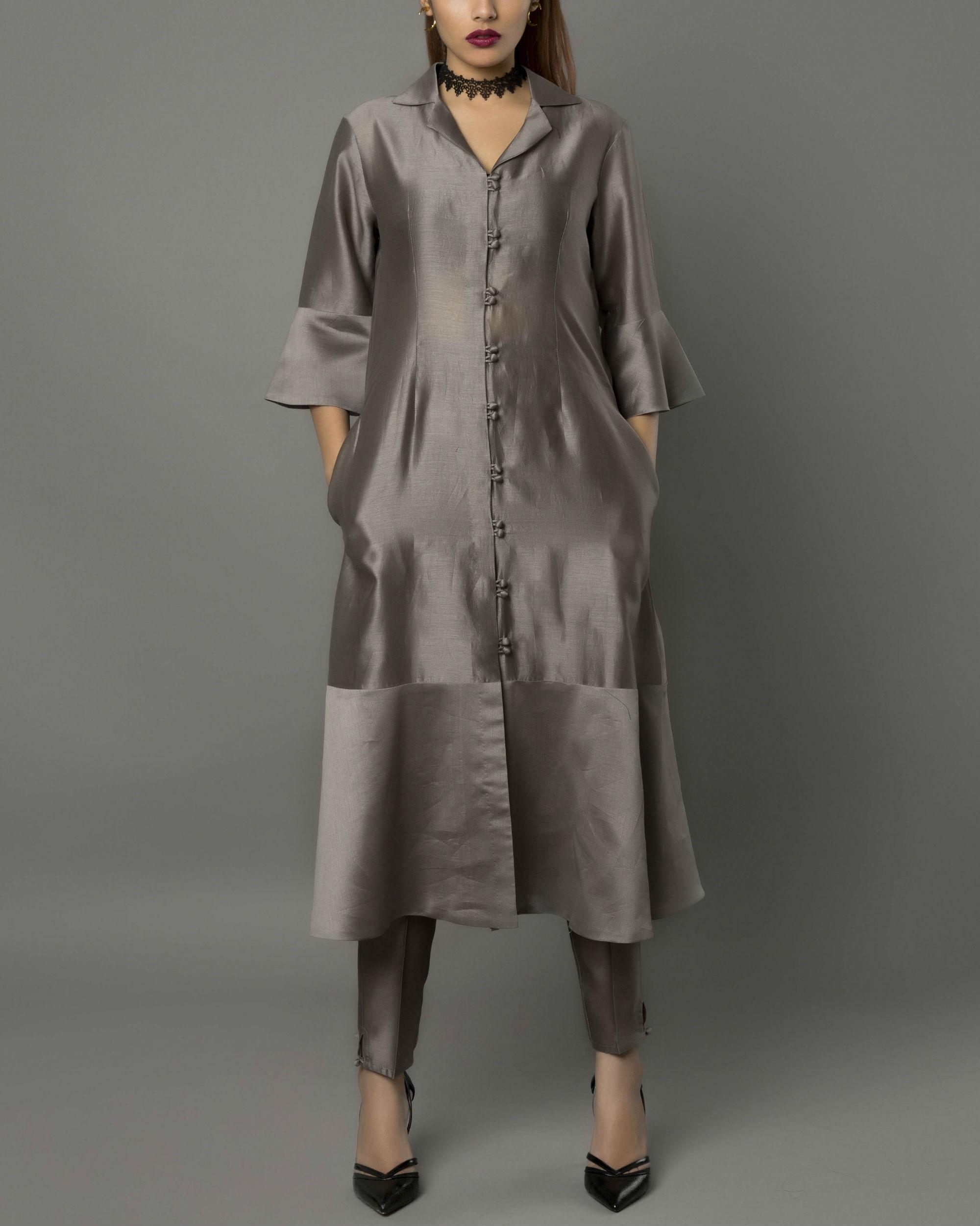 Vira grey kurta set