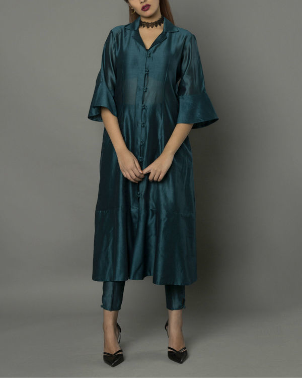 Vira teal kurta set