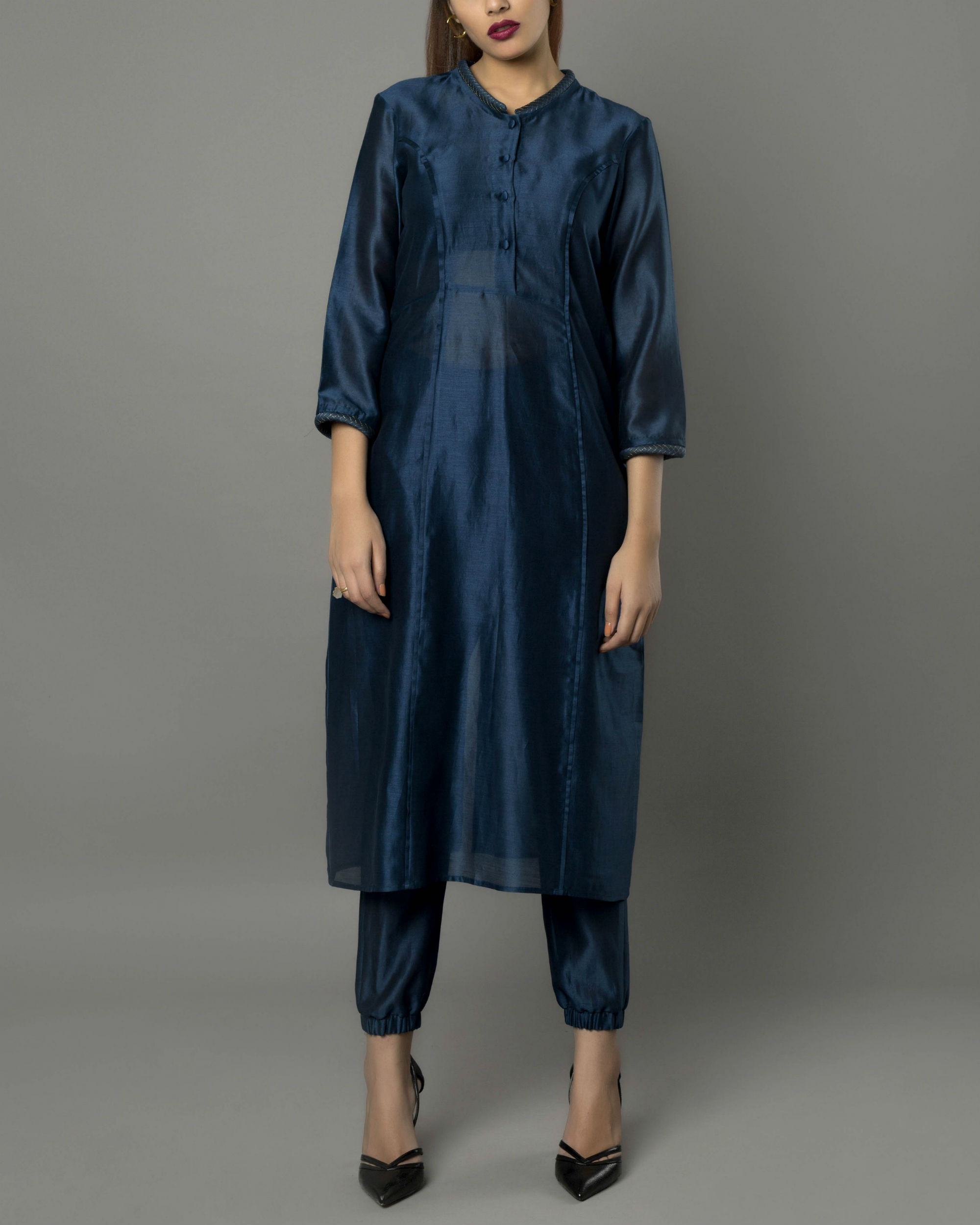 Sico navy kurta set