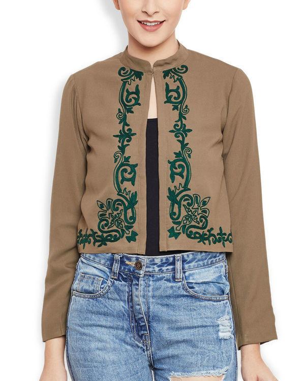 Brown cropped jacket