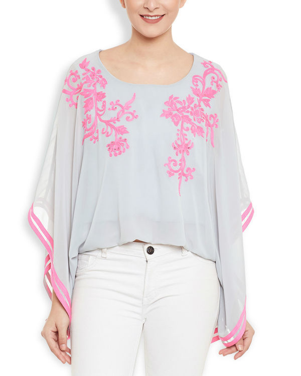 Pink snow poncho