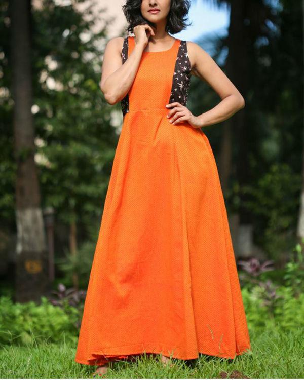Orange summer dress