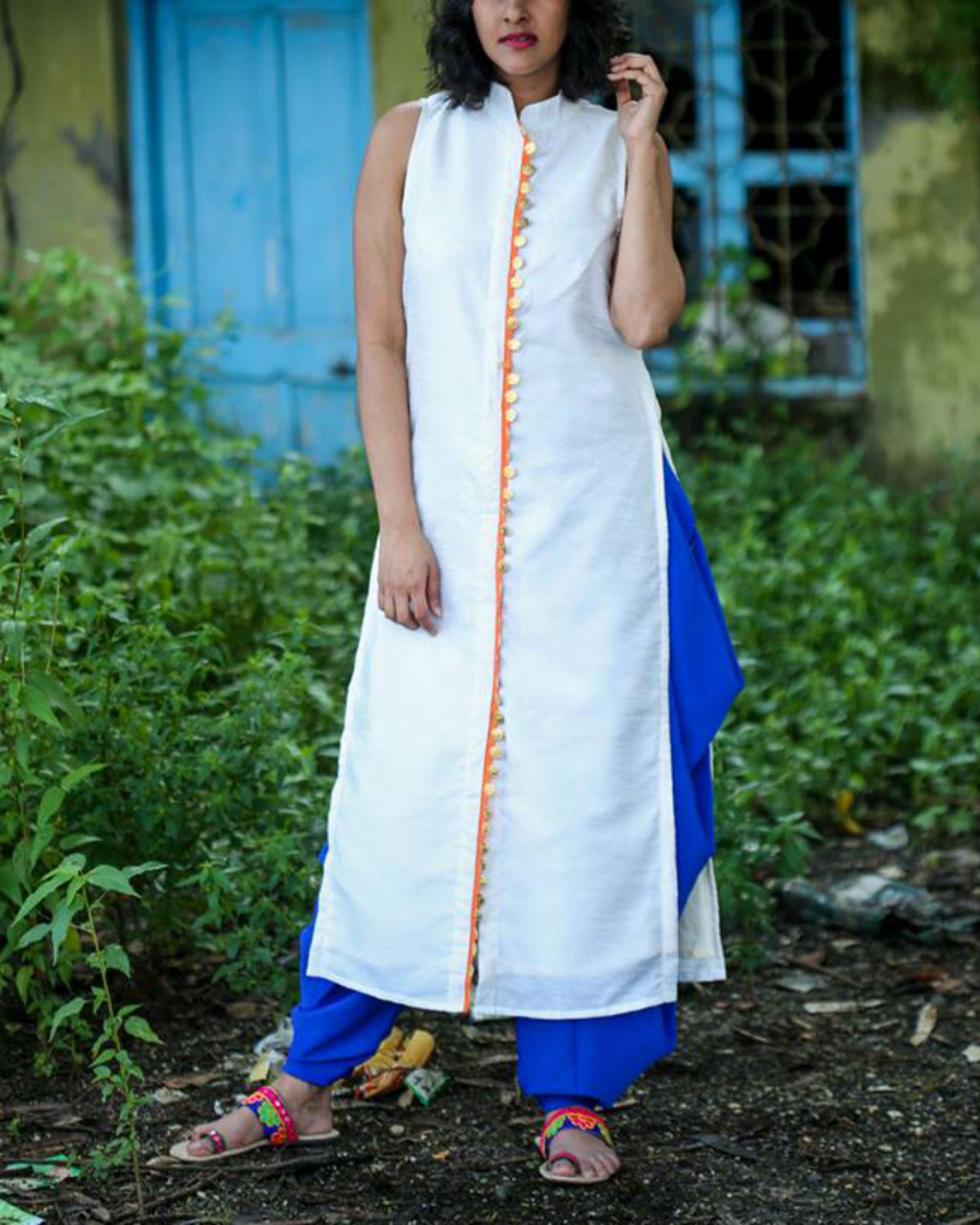 Off white long kurta