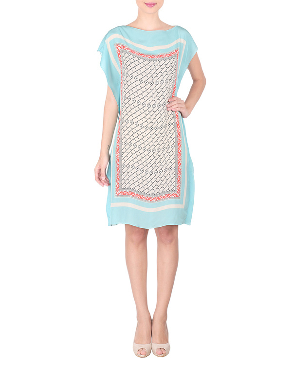 Ice blue crepe dress