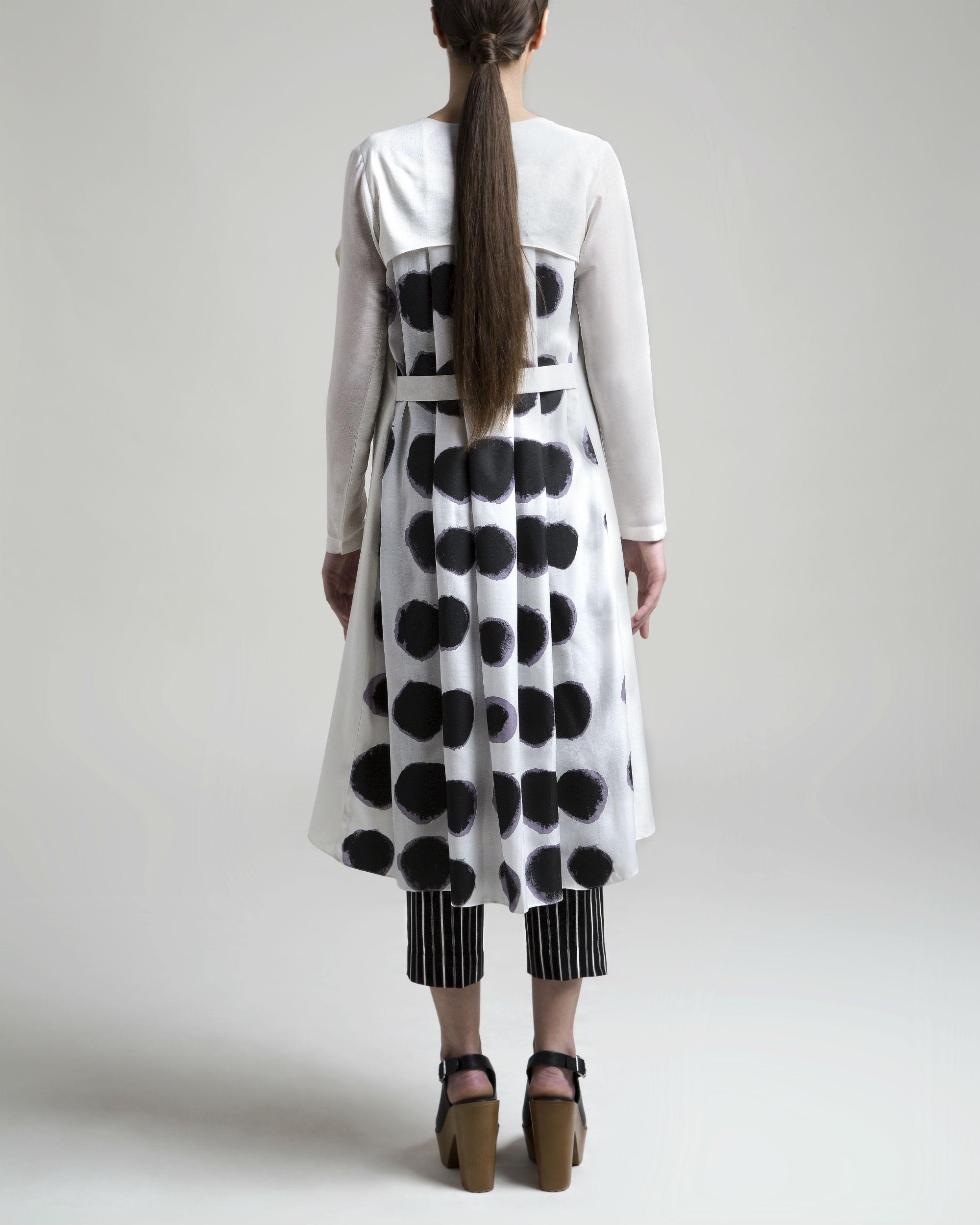 White polka cape