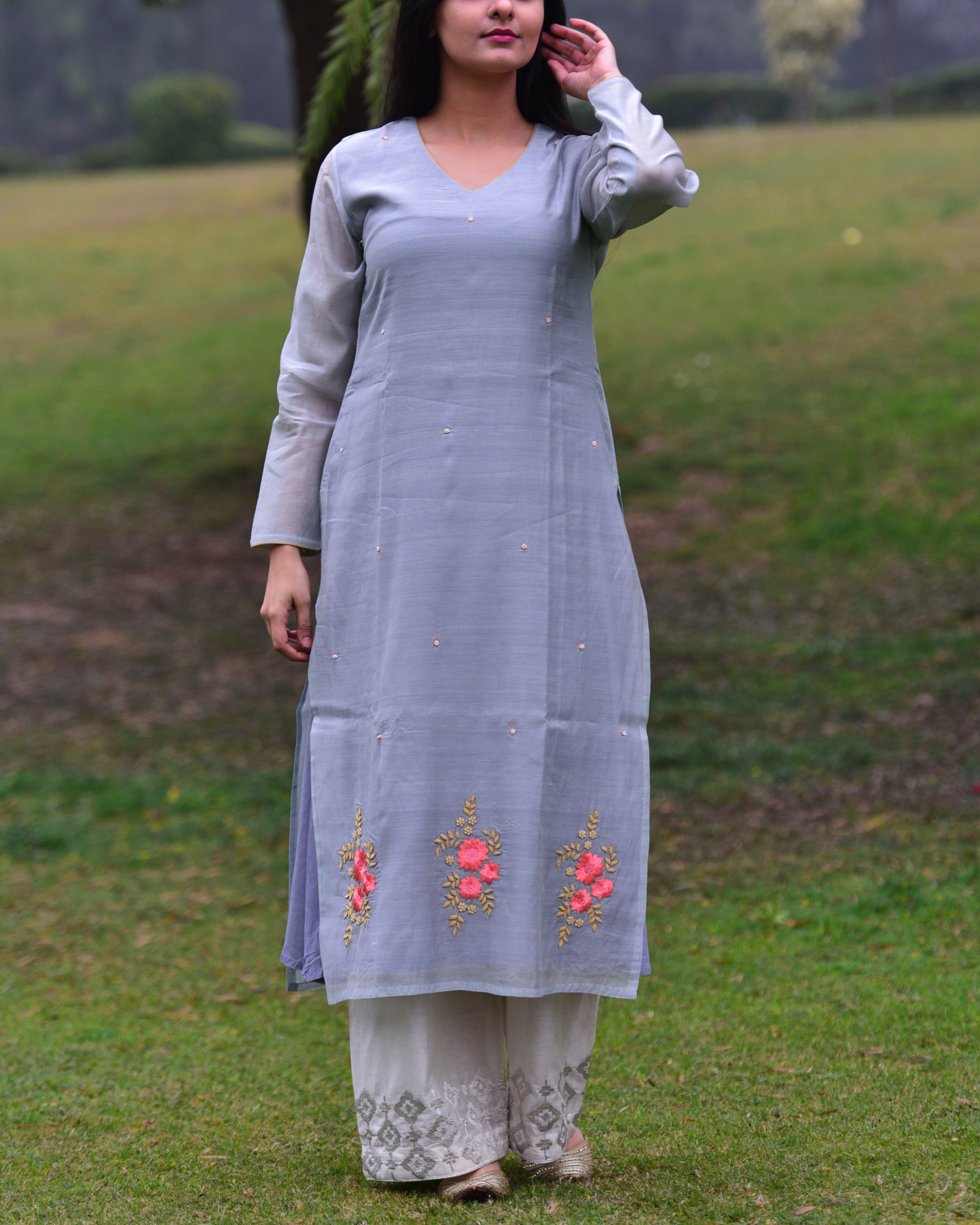 Monsoon grey tunic