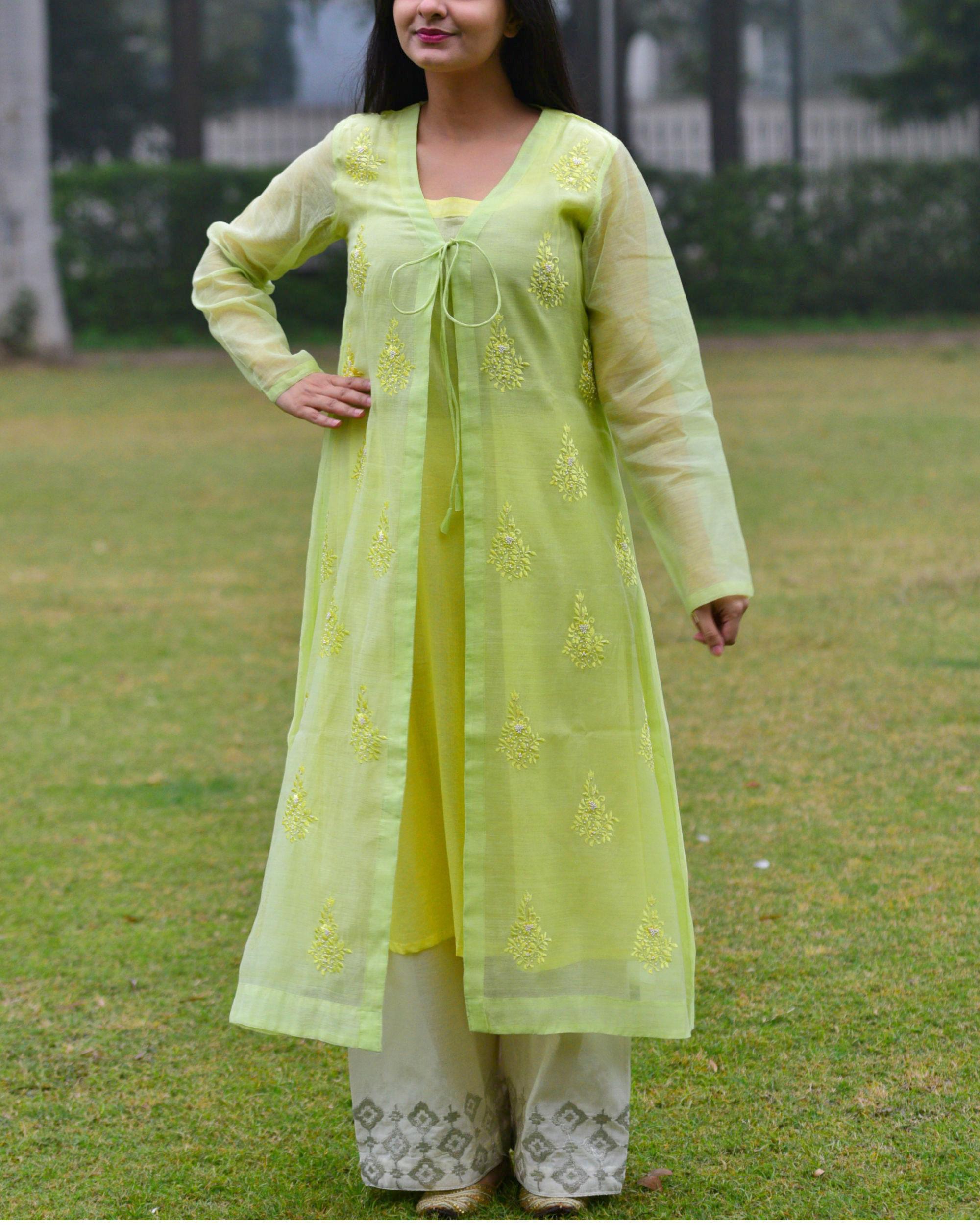 Pastel green tunic