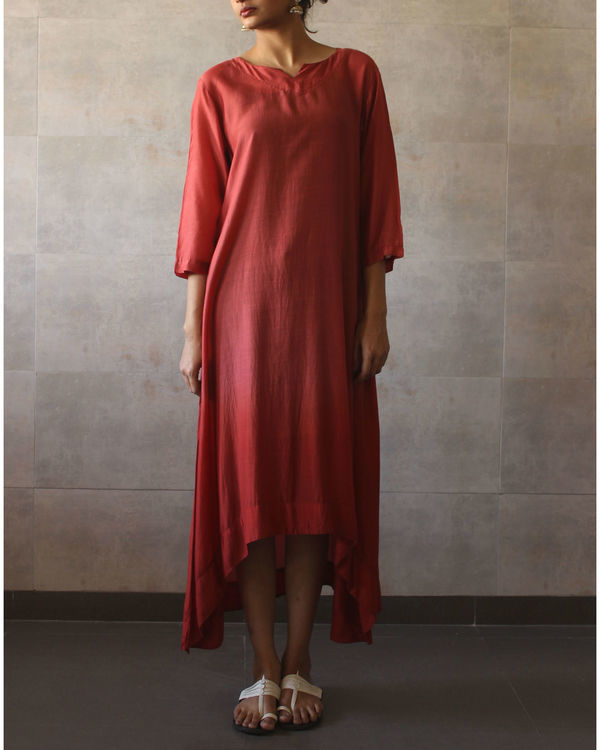 Rust ombre tunic