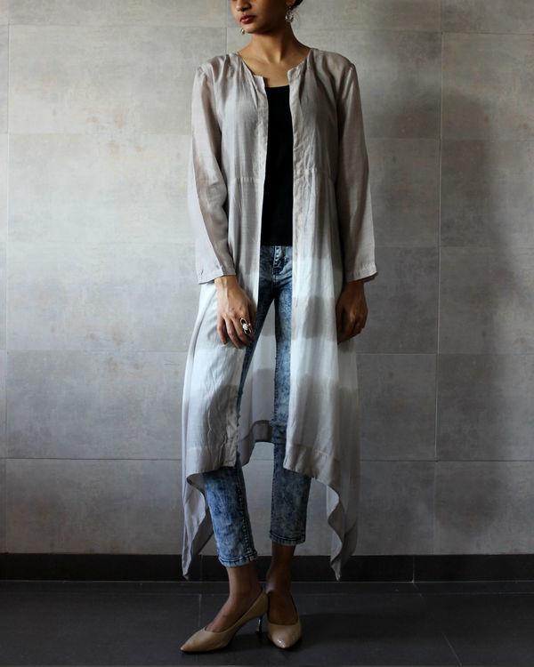 Grey batik cape