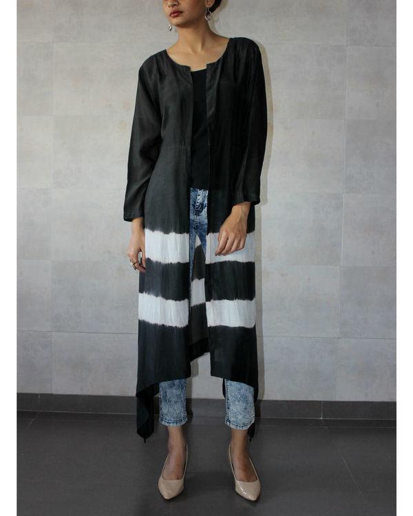 Black batik cape