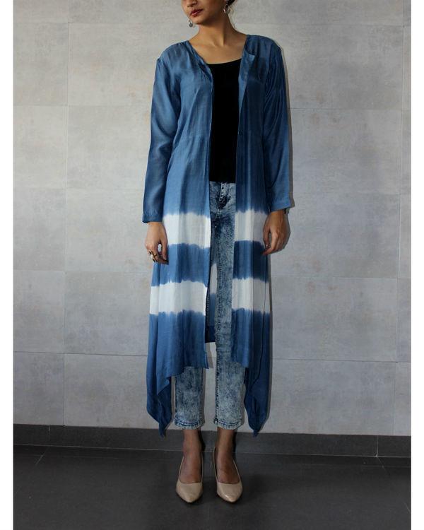 Blue batik cape