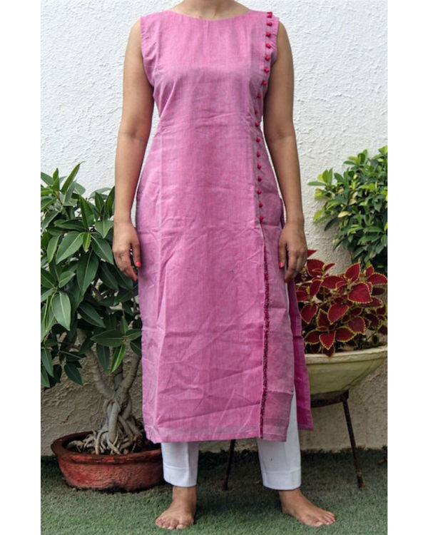 Pink embroidered kurta