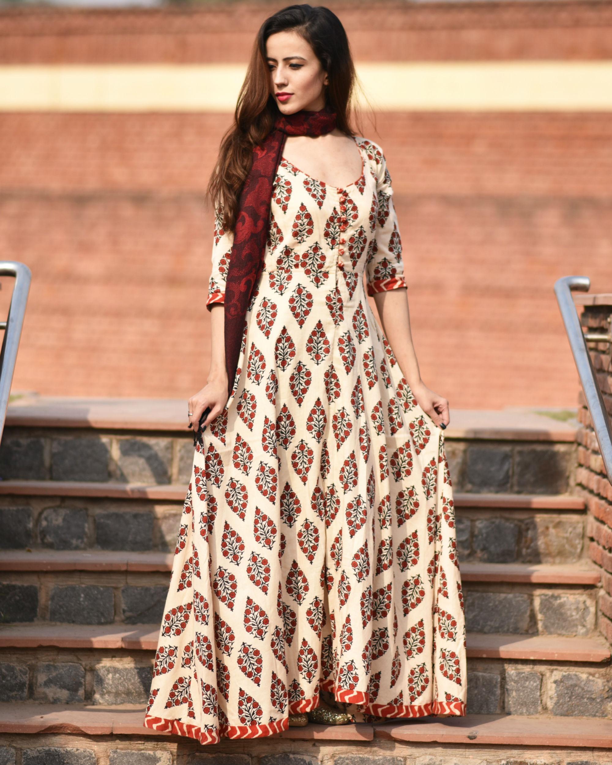 Red rajasi dress