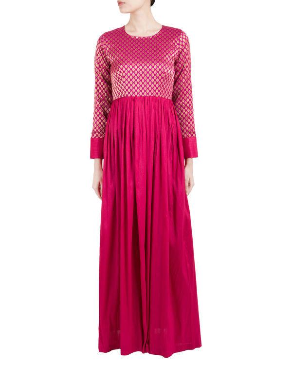 Pink brocade dress