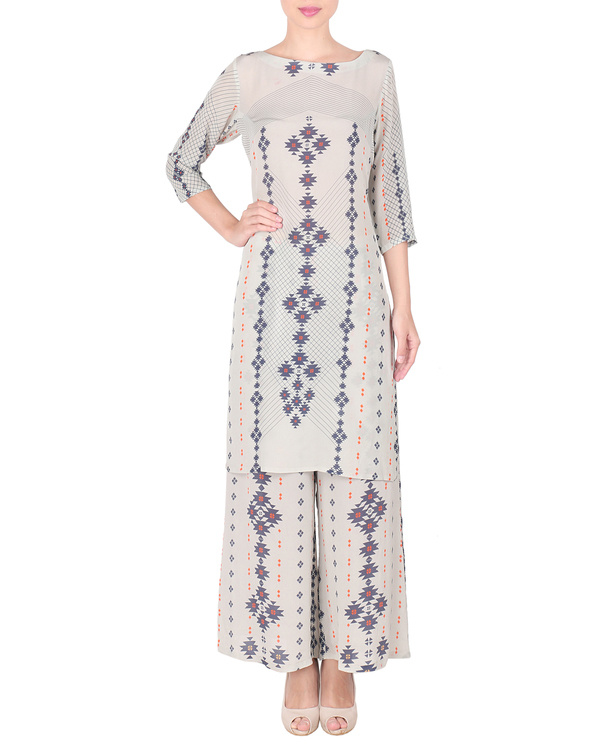 Long kurta with palazzo pants