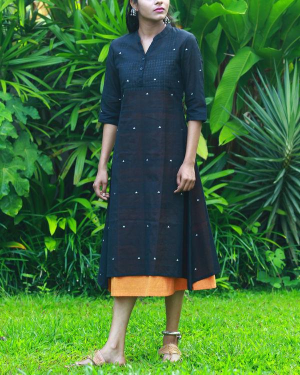 Black kurta with orange camisole
