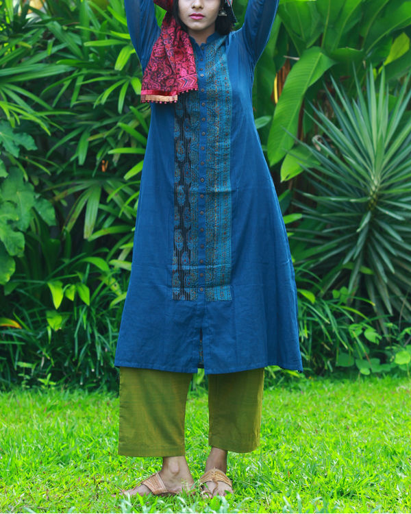 Navy kurta with camisole