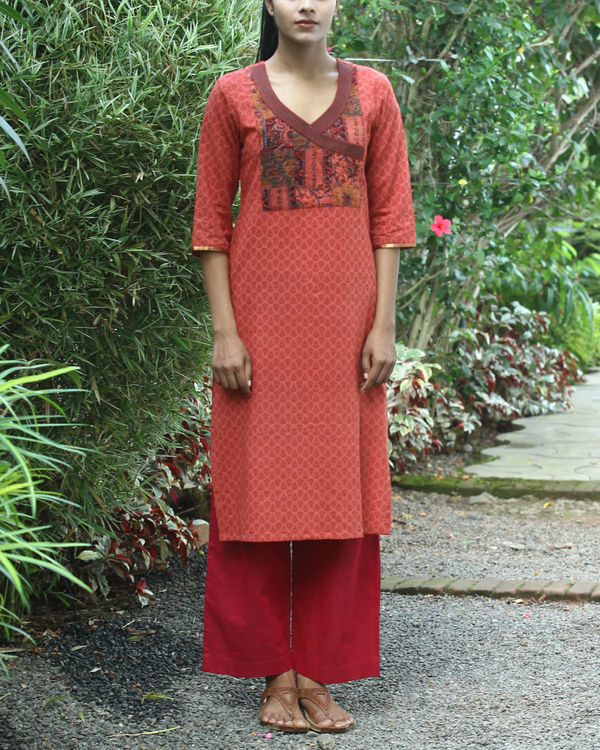 Gajari cotton kurta