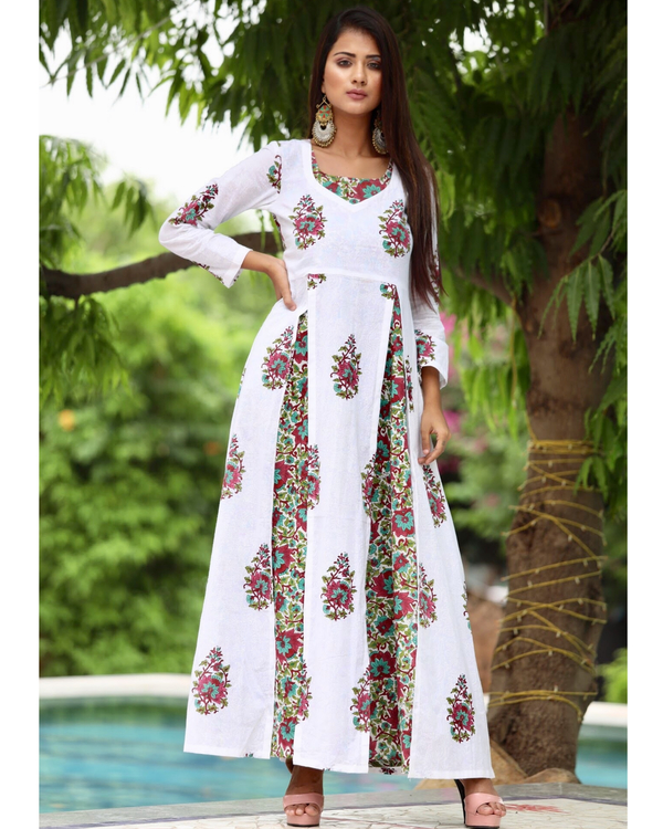 Pink maxi with twin slit tunic