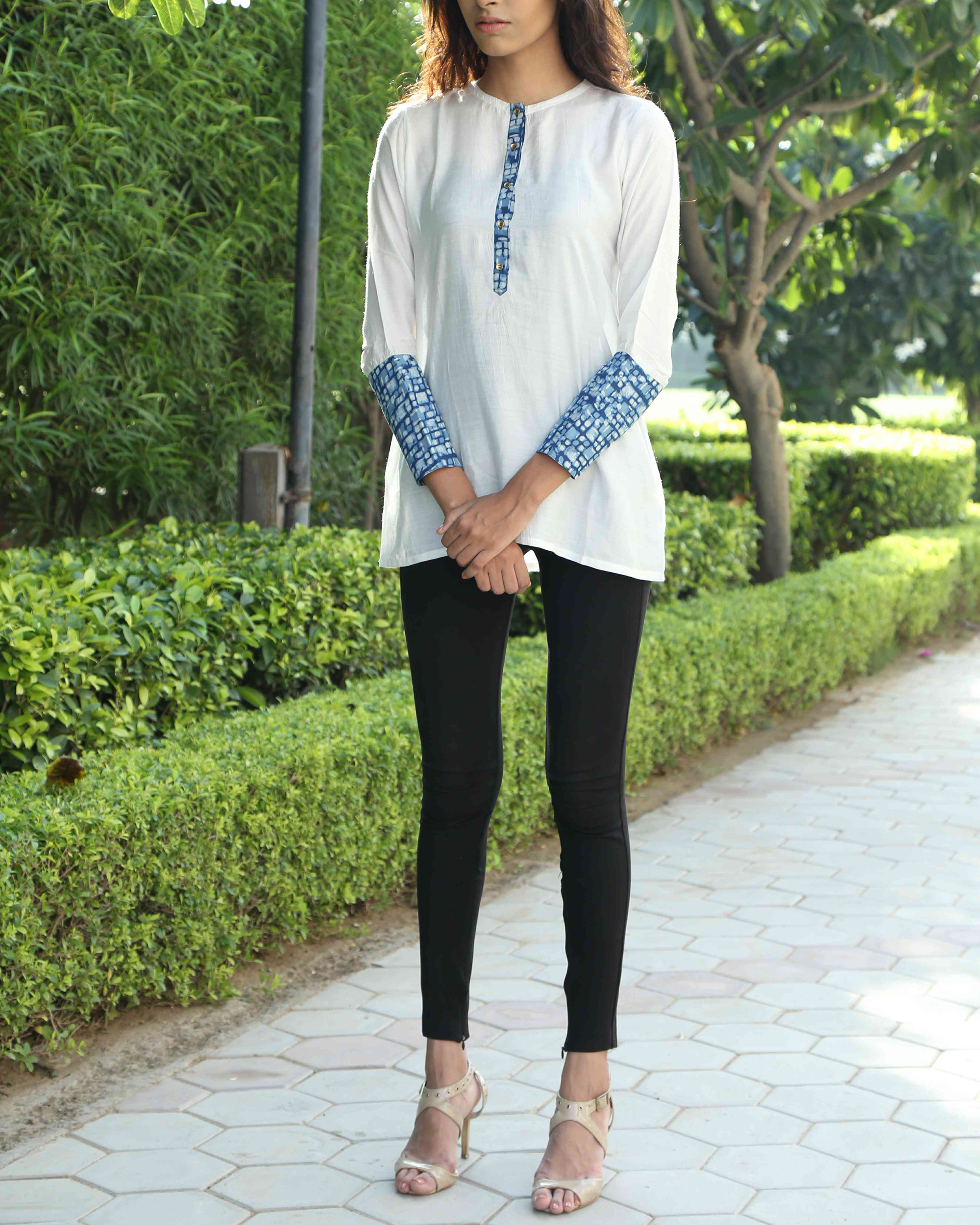 White patchwork top